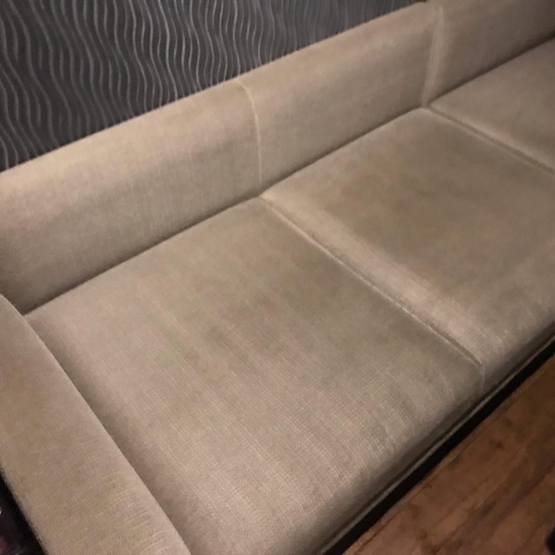 カラオケボックスシート洗浄食べこぼし飲みこぼし、汗などのタンパク質の汚れ。#ソファー#ソファー洗浄#ボックスシート